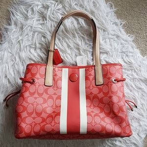 Gorgeous watermelon red Coach bag - new with tags